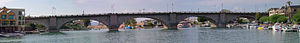 London Bridge (Lake Havasu City) - A panoramic view of the entire bridge.