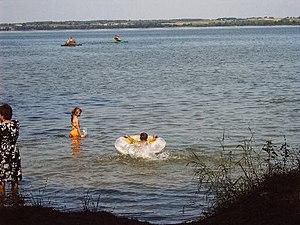 Lake Vištytis - Bathing on the Russian side