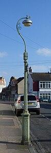 Lanterna kolono ĉe Skt. la Vojo de la Terrace-St Luke de Luko, la Parko de Queen, Brajtono (NHLE-Kodo 1380887).JPG
