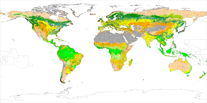 Land Cover By IGBP With 17 Classes Class Definition Color Code