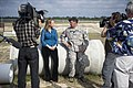"Lara Logan with CBS's ""60 Minutes"" conducts an interview with U.S. Army Sgt. 1st Class Chris Corbin assigned to the 7th Special Forces Group (Airborne), at Eglin Base Air Force Base, Fla., March 18, 2013 130318-A-YI554-726.jpg"