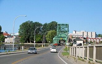 La Salle Causeway - The causeway and bridge, looking west.