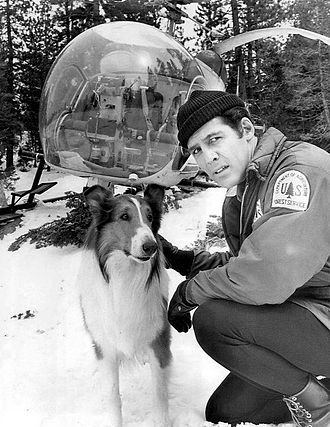 Jed Allan - Allan with Lassie in 1969