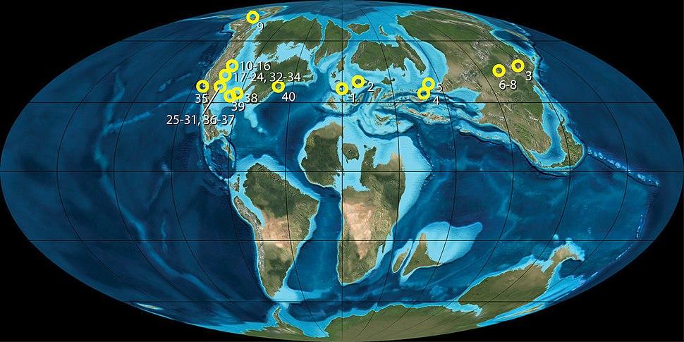 Late Cretaceous metatherian locales - ZooKeys 465