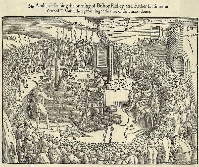 Latimer Ridley Foxe burning.jpg