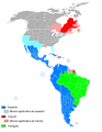 Latin languages in the Americas.png