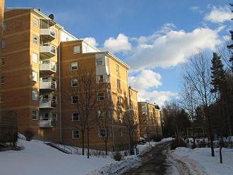 Bollmora - A residential block in Bollmora