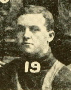 Laurence Bankart - Bankart pictured in the 1908 Dartmouth football team photo
