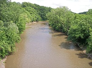 Le Sueur River - The Le Sueur River near its mouth in South Bend Township in 2007