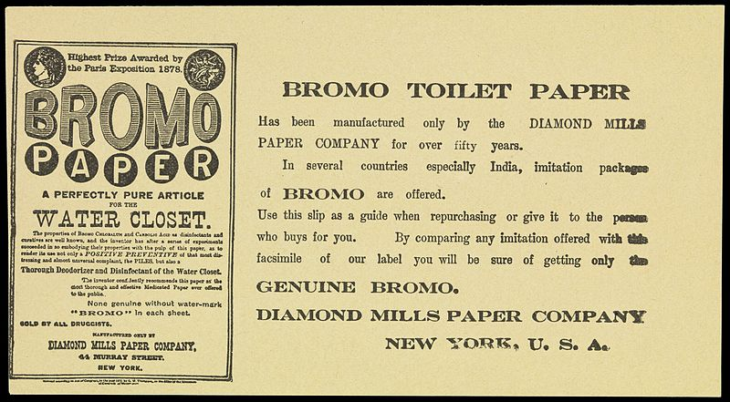 File:Leaflet advertising Bromo paper toilet tissue Wellcome L0072204.jpg