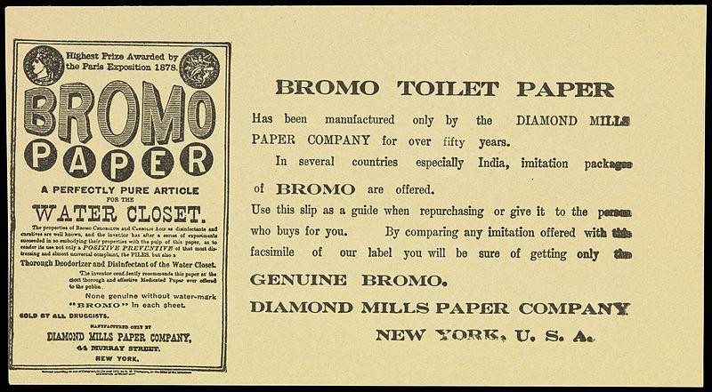 File:Leaflet advertising Bromo paper toilet tissue Wellcome L0072204.jpg