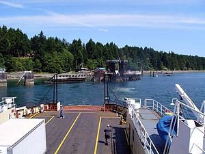 Denman Island - Leaving Denman Island on the local Ferry