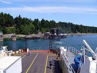 Denman Island - Leaving Denman Island on the local Ferry