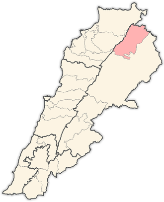 Hermel District - Image: Lebanon districts Hermel