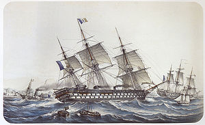 Napoléon-class ship of the line - Image: Lebreton engraving 19
