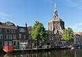 Leiden, de Marekerk RM25069 met terras op boot in de gracht foto5 2017-06-11 09.44.jpg