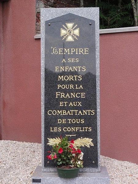 Lempire (Aisne) monument aux morts