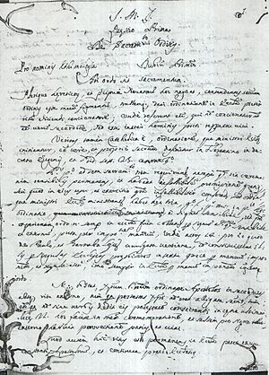 Jerome Leocata - One of Leocata's manuscripts (1697)