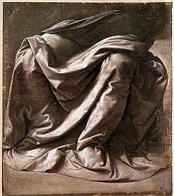 Leonardo da vinci, Garment study for a seated figure.jpg