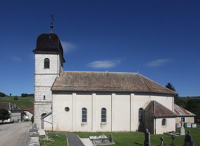 Église de Lièvremont (Doubs).