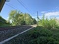 Ligne ferroviaire Mâcon Ambérieu près Autoroute A406 Crottet 1.jpg