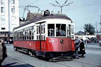 Third Avenue Railway - An ex-Third Avenue car in service in Vienna, Austria, in 1955