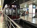 Limited Express for Omuta Station at Nishitetsu-Fukuoka (Tenjin) Station.jpg