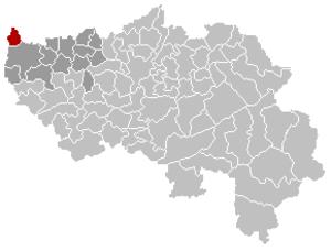 Lincent - Image: Lincent Liège Belgium Map