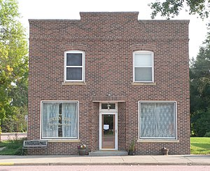 National Register of Historic Places listings in Aurora County, South Dakota - Image: Lincoln House, Stickney, SD, from N 1