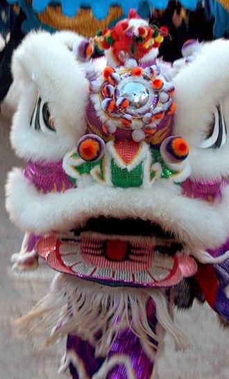 Lion dance - Image: Lion dance costume