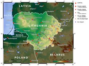 litauen kart Litauen – Wikipedia litauen kart
