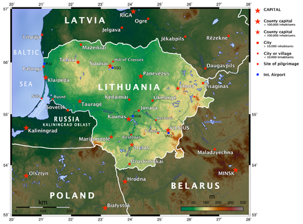 Lithuania Geography Map