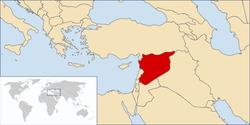 Location of Syria