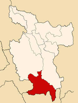 Location of Tocache in the San Martín Region