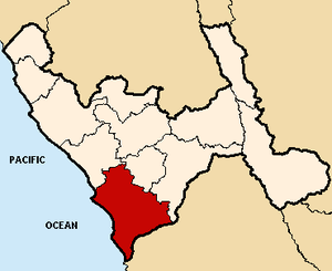 Virú Province - Image: Location of the province Virú in La Libertad