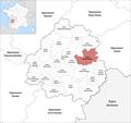 Locator map of Kanton Haut-Périgord Noir 2019.png