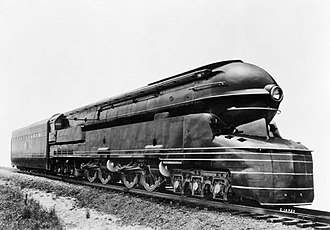 Pennsylvania Railroad class S1 - The official publicity photo of PRR S1 6100 of 1939