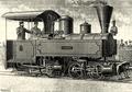Locomotive compound desservant la voie Decauville à l'Exposition universelle de 1889 (Louis Lucien Baclé).png