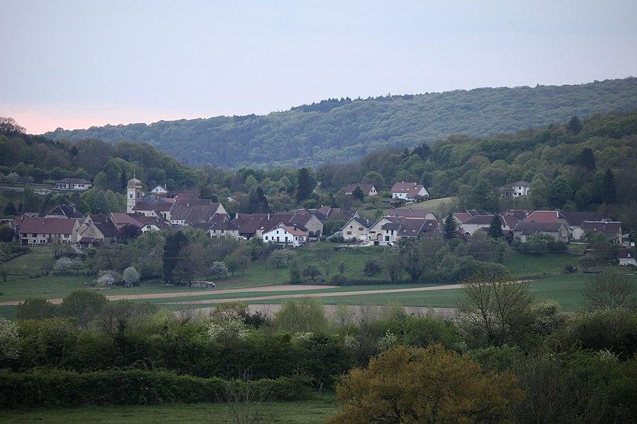 Vue de Lombard (Doubs).