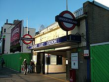 London U-Bahn Aldgate East Eingang.jpg