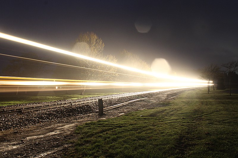 File:Long exposure train night shot.jpg