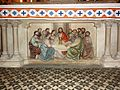 Longeville-en-Barrois (Meuse) église, sculpture dessous d'autel, la Cène.jpg