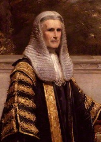 William Wood, 1st Baron Hatherley - Lord Hatherley as Lord Chancellor, by George Richmond.