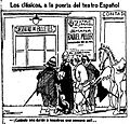 Los clásicos, a la puerta del teatro Español, de Tovar, La Voz, 22 de junio de 1921.jpg