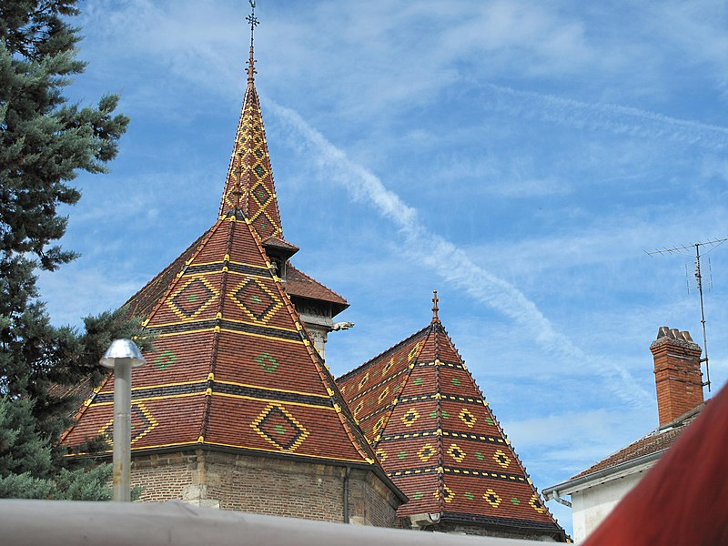 Roofs of the Saint-Peter church of Louhans (Saône-et-Loire, France).
