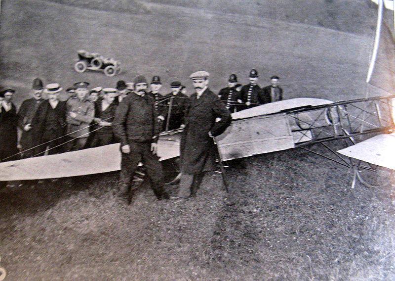 Louis Blériot, en Dover (1909).