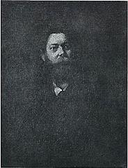 Porträt des Malers Albertus Wirth