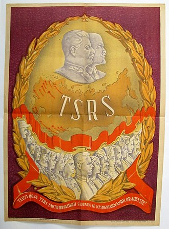 Republics of the Soviet Union - Image: Ltsr plakatas 1946 tsrs