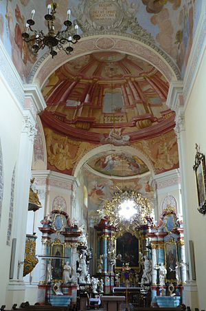 Lubiń, Kościan County - church interior