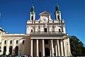 Lublin, Królewska 10, Archikatedra św. Jana Chrzciciela i św. Jana Ewangelisty; fronton od W.jpg